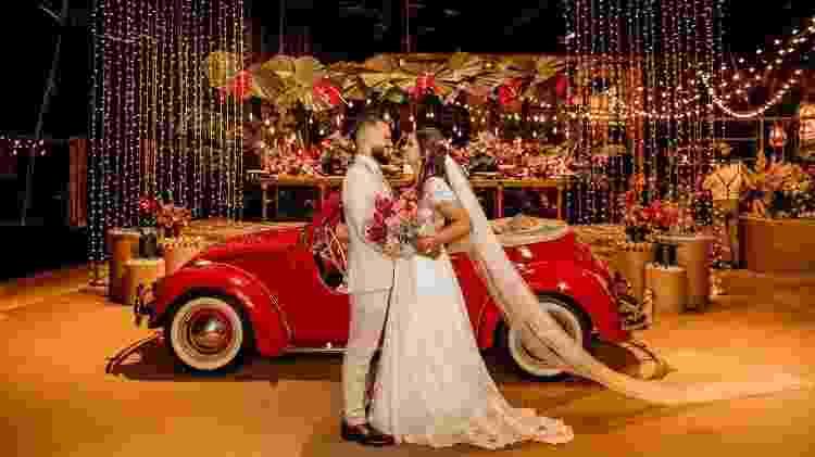 Brenda Castro no dia do seu casamento - Arquivo pessoal - Arquivo pessoal