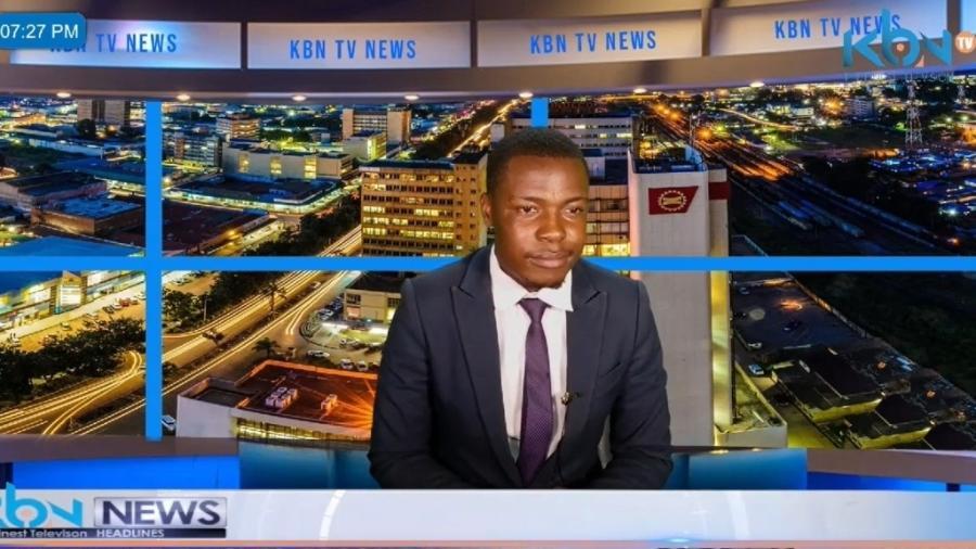 Kabinda Kalimina interrompe jornal - Reprodução/Twitter
