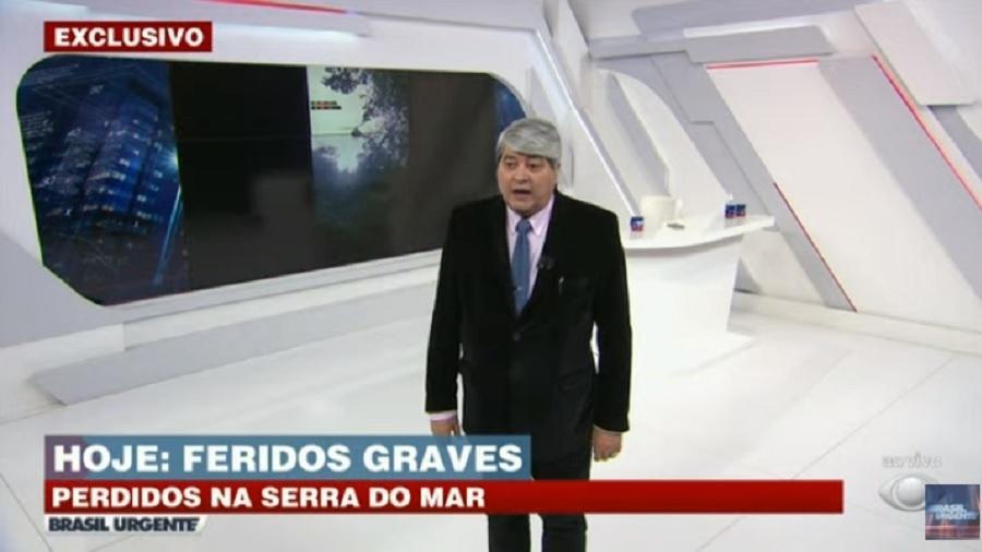 Brasil Urgente: Datena dá bronca na produção - Reprodução/TV Bandeirantes