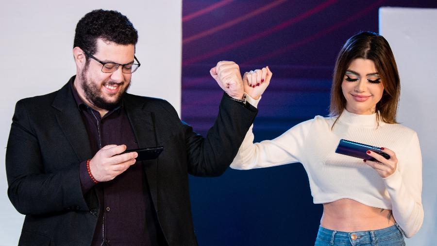 "Thiago ""Djoko"" Maia e Giuliana ""Caju"" Capitani, do realty show Power 2 Game - Saymon Sampaio/Power 2 Game"