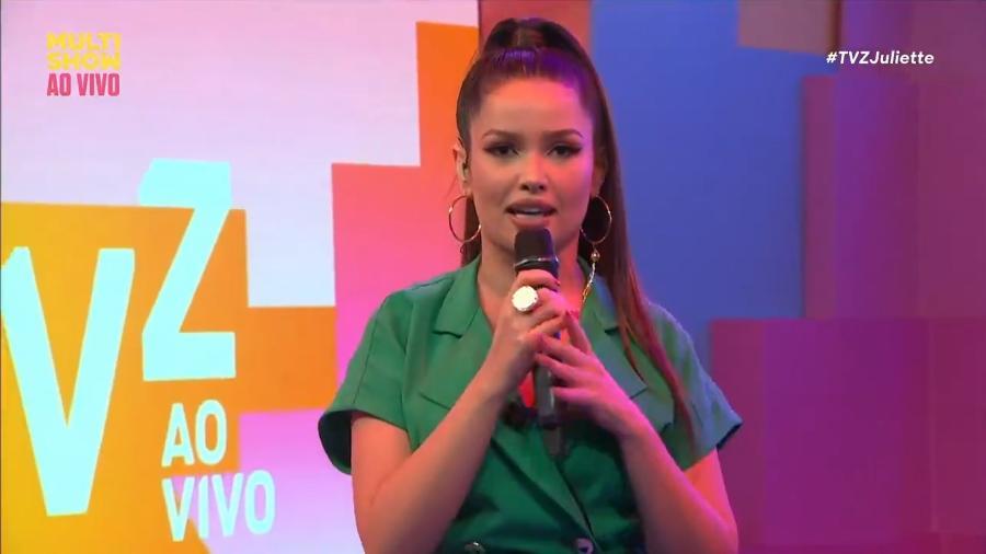"""Juliette mandou recado para ex-namorados no """"TVZ"""" - Reprodução/Multishow"""