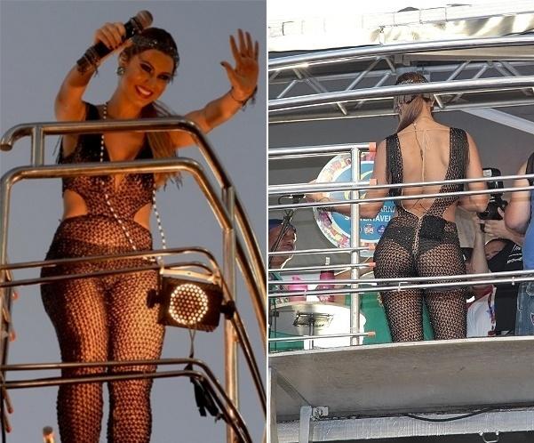 Vina Calmon usou um vestido transparente para o desfile do Cheiro de Amor no sábado (6)