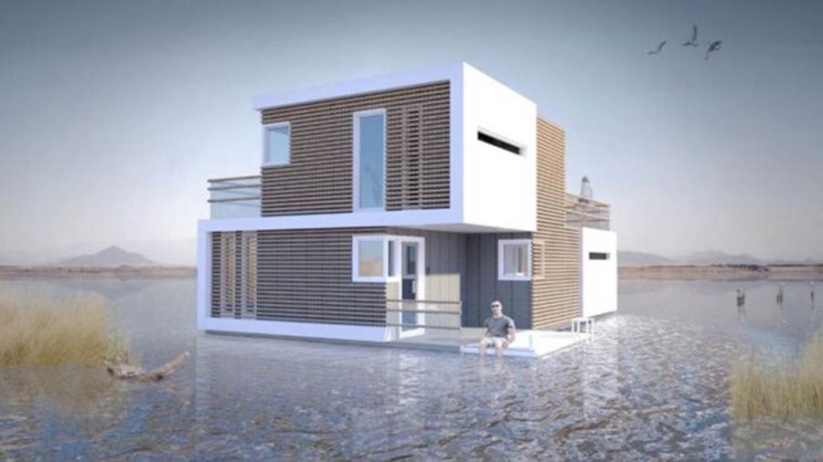 """A """"casa"""" pré-nupcial conta também com uma versão flutuante - Estudio OBA"""
