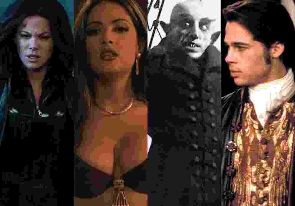 """Cenas dos filmes """"Anjos da Noite: Guerras de Sangue"""" (2016), de Anna Foerster, """"Um Drink no Inferno"""" (1996), de Robert Rodriguez, """"Nosferatu"""" (1922), de F.W. Murnau e - Montagem/Reprodução"""