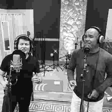 """Rick e Giovani estão compondo juntos para o projeto """"Dois Corações"""" - Divulgação - Divulgação"""