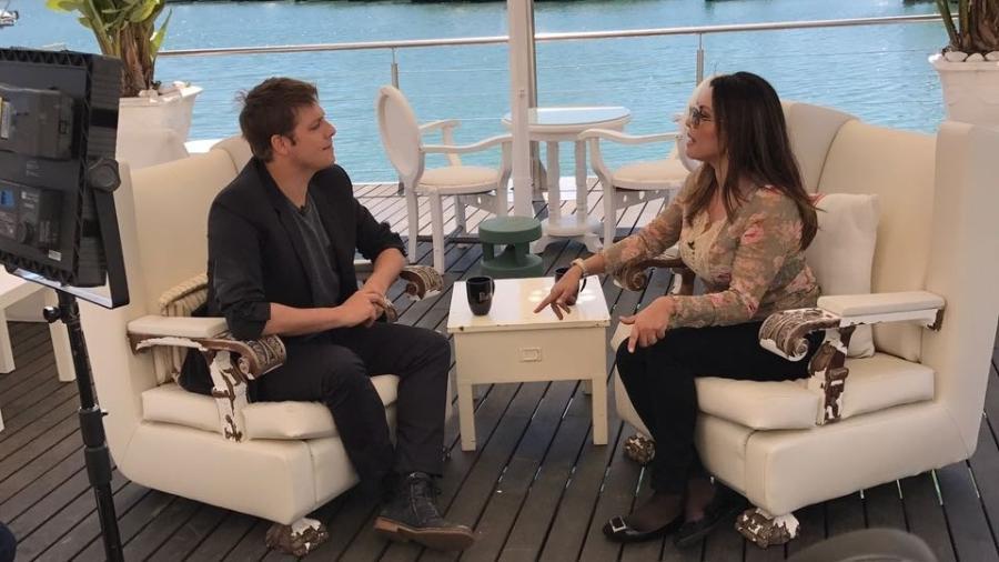 Fabio Porchat entrevista Marcia Goldschmidt; matéria vai ao ar na próxima quarta (12), na Record - Divulgação