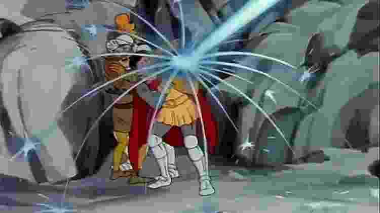 Eric salva Sir. John no episódio O Olho do Observador de A Caverna do Dragão - Reprodução - Reprodução