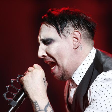 O cantor Marilyn Manson em show em São Paulo - Fabio Braga/Folhapress
