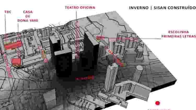Imagem do projeto imobiliário da empresa Sisan, do apresentador e empresário Silvio Santos - Reprodução - Reprodução
