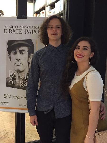 José Marcos e Livian Aragão no lançamento do livro sobre Renato Aragão - Luna Vale/UOL