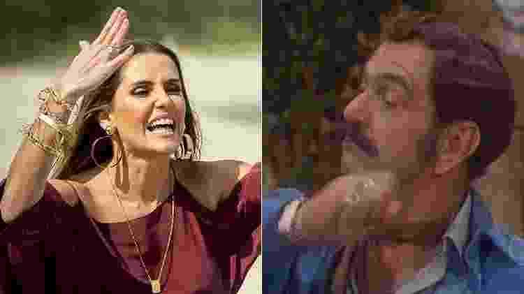Karola e Sinhozinho Malta - Montagem/UOL/Reprodução/TV Globo - Montagem/UOL/Reprodução/TV Globo