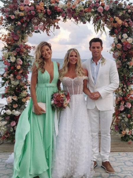 Ticiane Pinheiro com Karina Bacchi e Amaury Nunes - Reprodução/Instagram