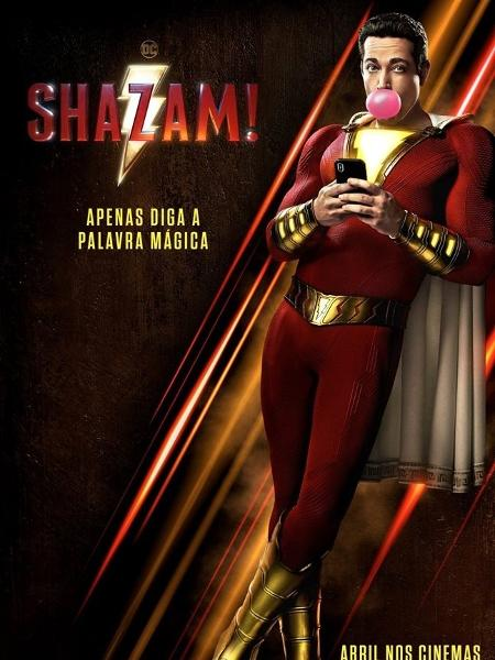 """Pôster brasileiro de """"Shazam!"""" - Divulgação"""