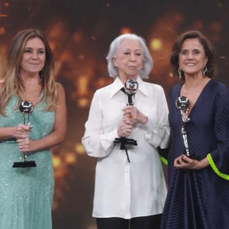 Adriana Esteves, Fernanda Montenegro e Marieta Severo - Reprodução/Instagram