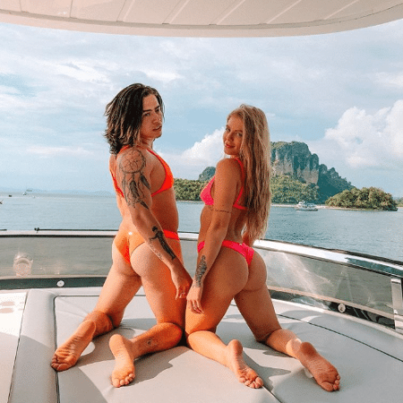 Whindersson Nunes e Luísa Sonza em mais uma palhaçada de casal durante viagem na Tailândia - Reprodução/Instagram