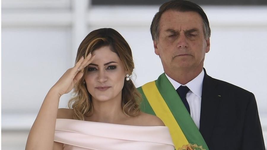 A primeira-dama Michele Bolsonaro - AFP