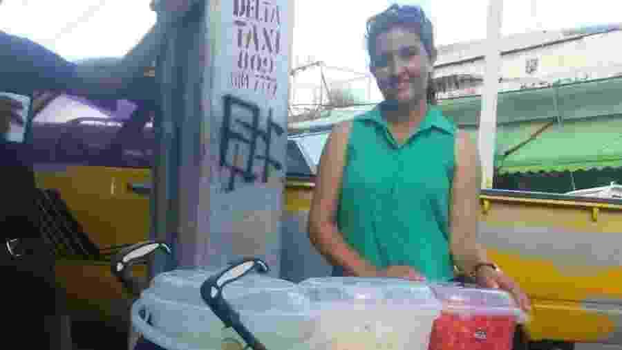 Maria Fernanda Marin vendia suco e salada de fruta na rua para sobreviver no Brasil - Arquivo Pessoal