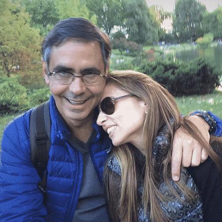 Fabio Pannunzio, apresentador da Band, com a mulher, Daniela Lessa - Reprodução/Instagram/danielalessa