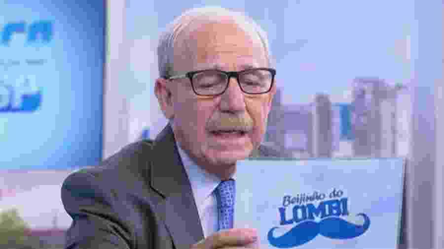 Renato Lombardi, comentarista do Balanço Geral - Reprodução/Record