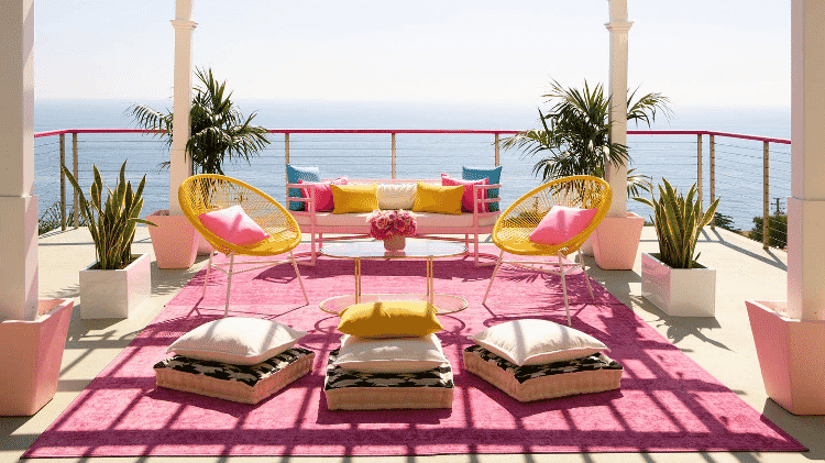A casa da Barbie fica em Malibu, com vista para o Oceano Pacífico - Divulgação/Airbnb