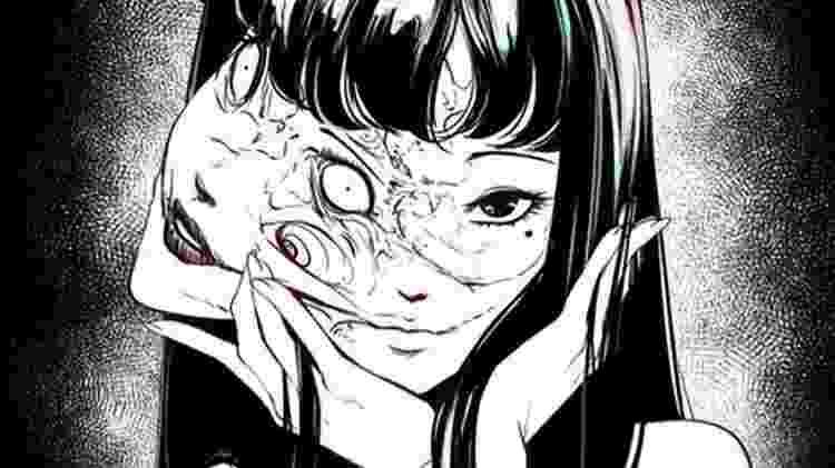 Uma das facetas de Tomie, na obra de Junji Ito - Reprodução