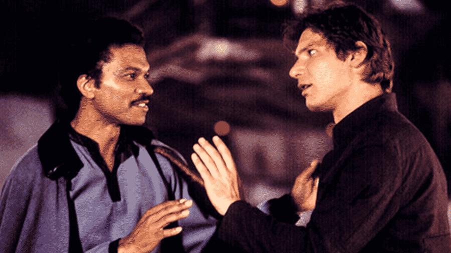 Billy Dee Williams e Harrison Ford na franquia Star Wars - Reprodução