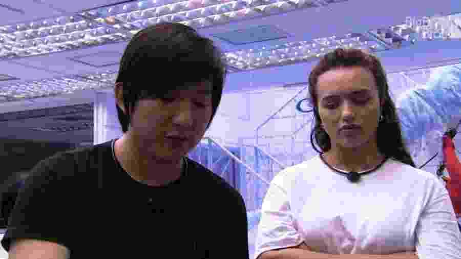 BBB 20:  Rafa e Pyong conversam - Reprodução/Globoplay