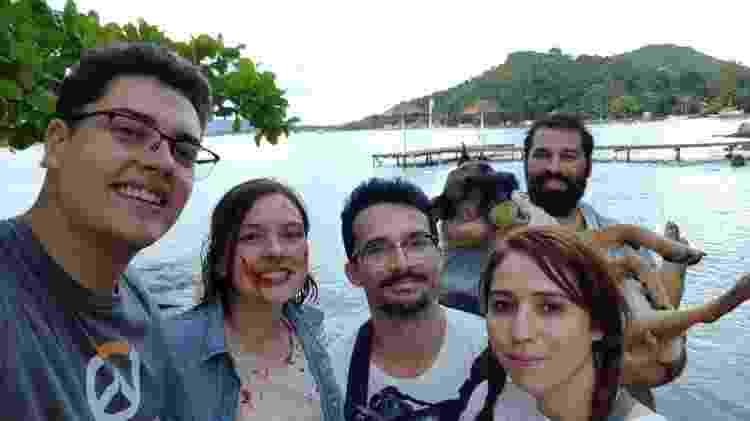 Equipe durante a produção de Bound, em Florianópolis - Divulgação/Bruno Nascimento