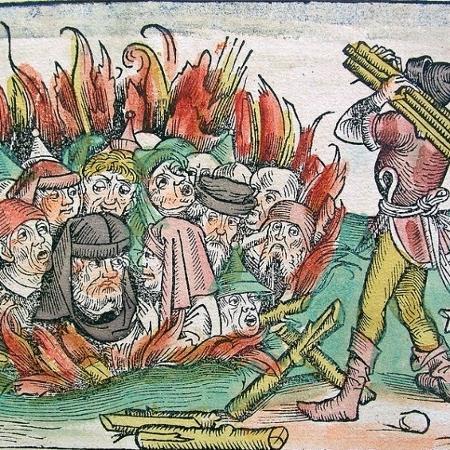 Povos perseguidos durante a Peste Negra acabavam na fogueira - Divulgação
