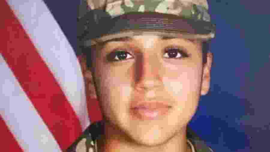 A militar Vanessa Guillén, de 20 anos, foi vista pela última vez em 22 de abril na base de Fort Hood, no Texas. Seu corpo foi encontrado mais de dois meses depois - U.S. Army