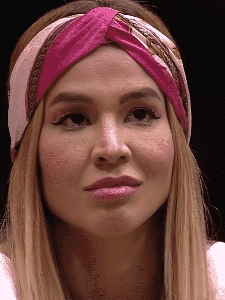 Kerline, a primeira eliminada, também chegou a usar - Reprodução/Globoplay - Reprodução/Globoplay