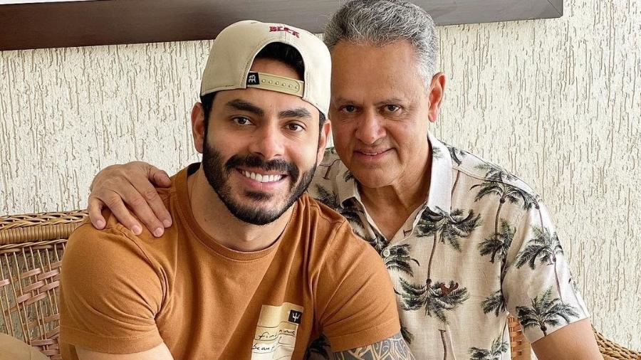 Rodolffo e o pai, Juarez Dias - Reprodução/Instagram @juarez_dias