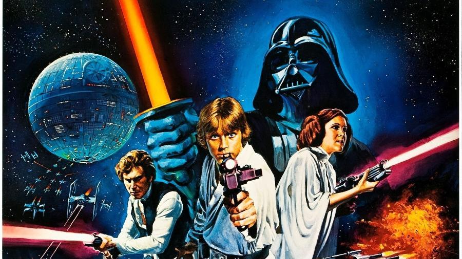 """Cartaz de """"Star Wars: Uma Nova Esperança"""". O ideal é que você comece por esse filme - divulgação/Lucasfilm/Disney"""