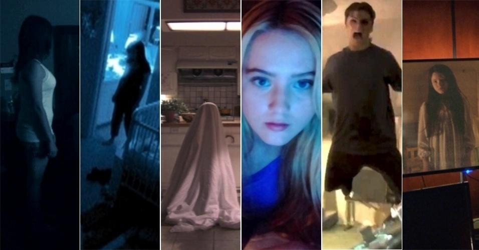 """Cenas dos filmes da série """"Atividade Paranormal"""""""