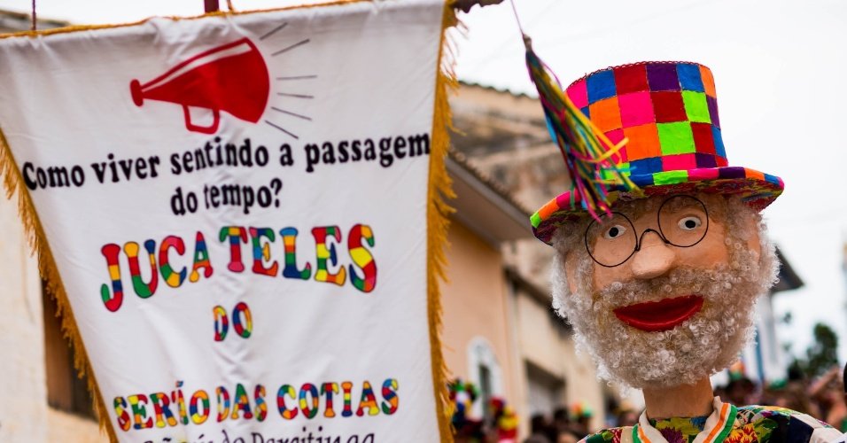 6.fev.2016 - Durante o Carnaval, cada bloco se apresenta com sua fantasia e marchinha específica, composta por moradores da própria cidade. Os mais conhecidos são os blocos Juca Teles, Maricota e Bloco do Barbosa