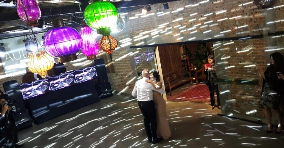 Gretchen e o empresário português Carlos Marques se casaram em São Bernardo do Campo