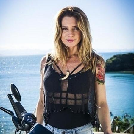 """Letícia Spiller viveu Lenita, irmã de Ralf Tattoo e dona do bar Rota 94, na novela """"Sol Nascente"""" - Divulgação/TVGlobo"""