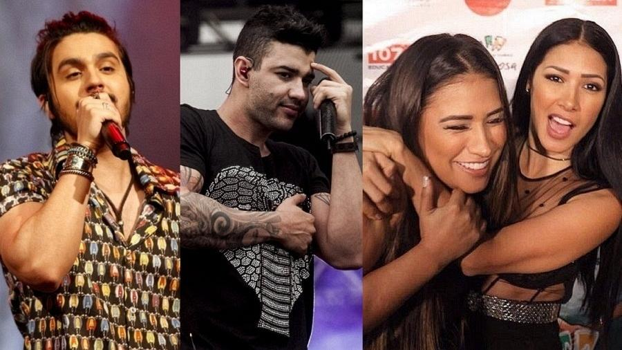 Luan Santana, Gusttavo Lima e as irmãs Simone e Simaria - Brazil News/UOL/Reprodução