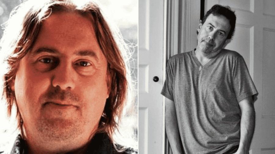 John Nicholson em 2010, quando ainda era vegano, à esquerda; ao lado, ele aparecem em imagem, mais magro depois de voltar a comer carne - Arquivo pessoal