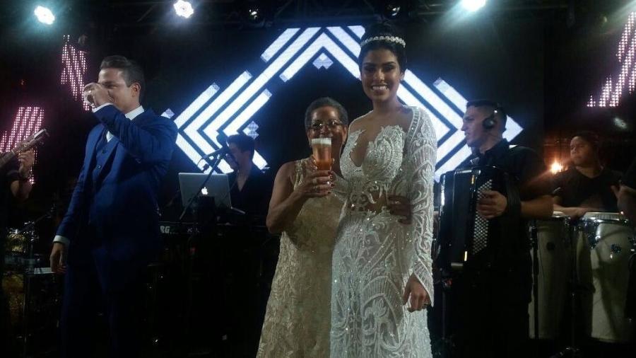 Dona Geralda no casamento de Munik Nunes - Reprodução/Instagram