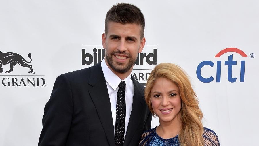 A cantora Shakira e o marido, o jogador espanhol Gerard Piqué - Getty Images