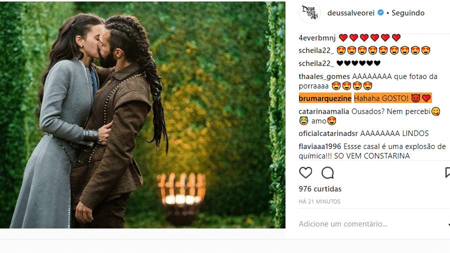Bruna Marquezine comenta foto publicada no perfil oficial da novela - Reprodução/Instagram