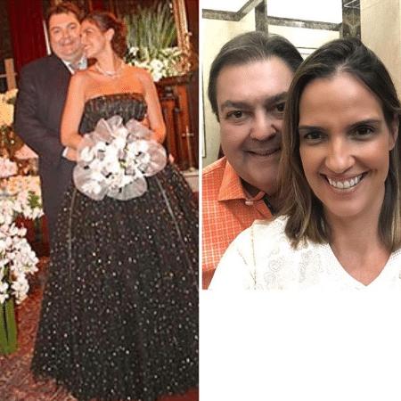 Luciana Cardoso e Faustão em foto do casamento - Reprodução/Instagram/lucard