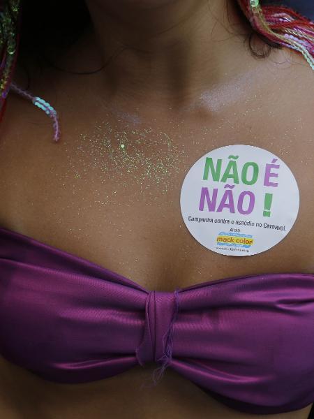 Adesivos contra o assédio estão por todas as partes - Nelson Antoine/UOL