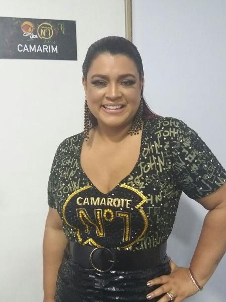 Preta Gil no camarote CarnaUOL RJ/N1 - Ana Cora Lima/UOL