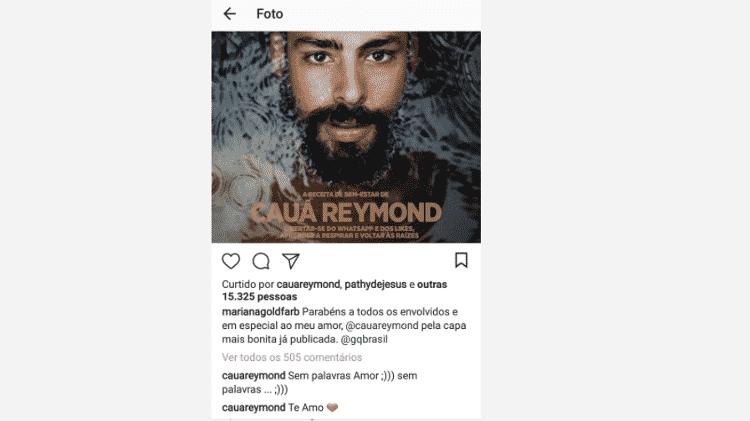 Cauã Reymond responde à declaração de Mariana Goldfarb - Reprodução/Instagram - Reprodução/Instagram