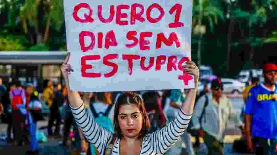Manifestação contra estupro na Av. Paulista, em SP, em abril deste ano - Edson Lopes Jr./UOL