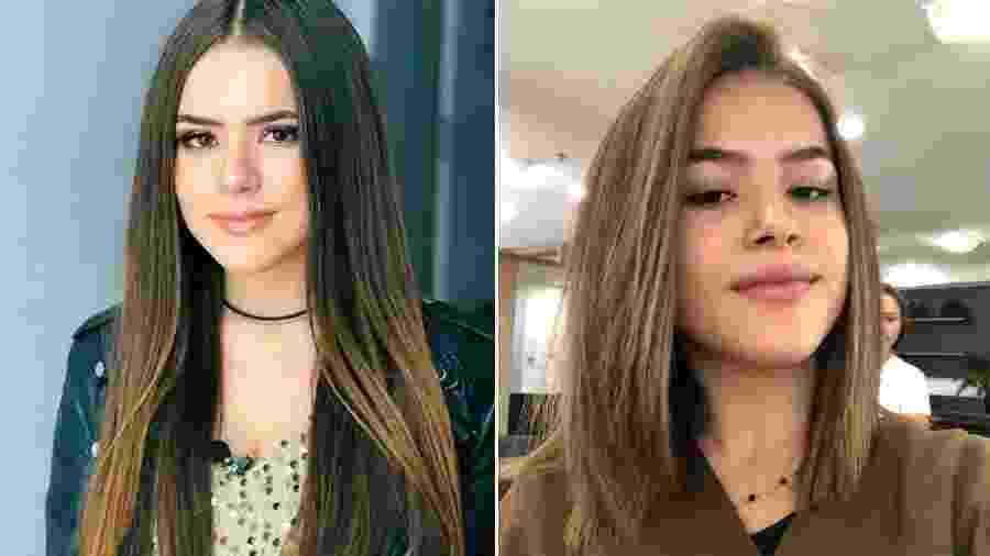 Maisa Silva antes e depois de cortar os cabelos - Reprodução/Instagram/Twitter