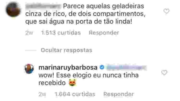 Comentário Marina Ruy Barbosa - Reprodução/Instagram - Reprodução/Instagram