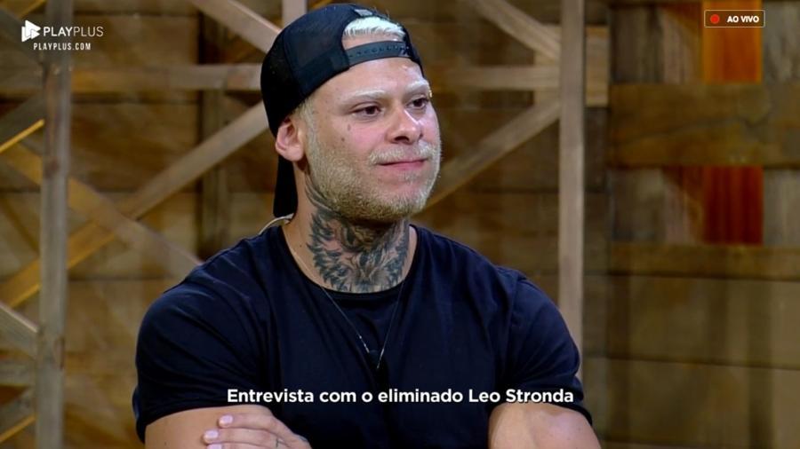 Após eliminação, Léo Stronda participa da bate-papo com Marcos Mion - Reprodução/PlayPlus